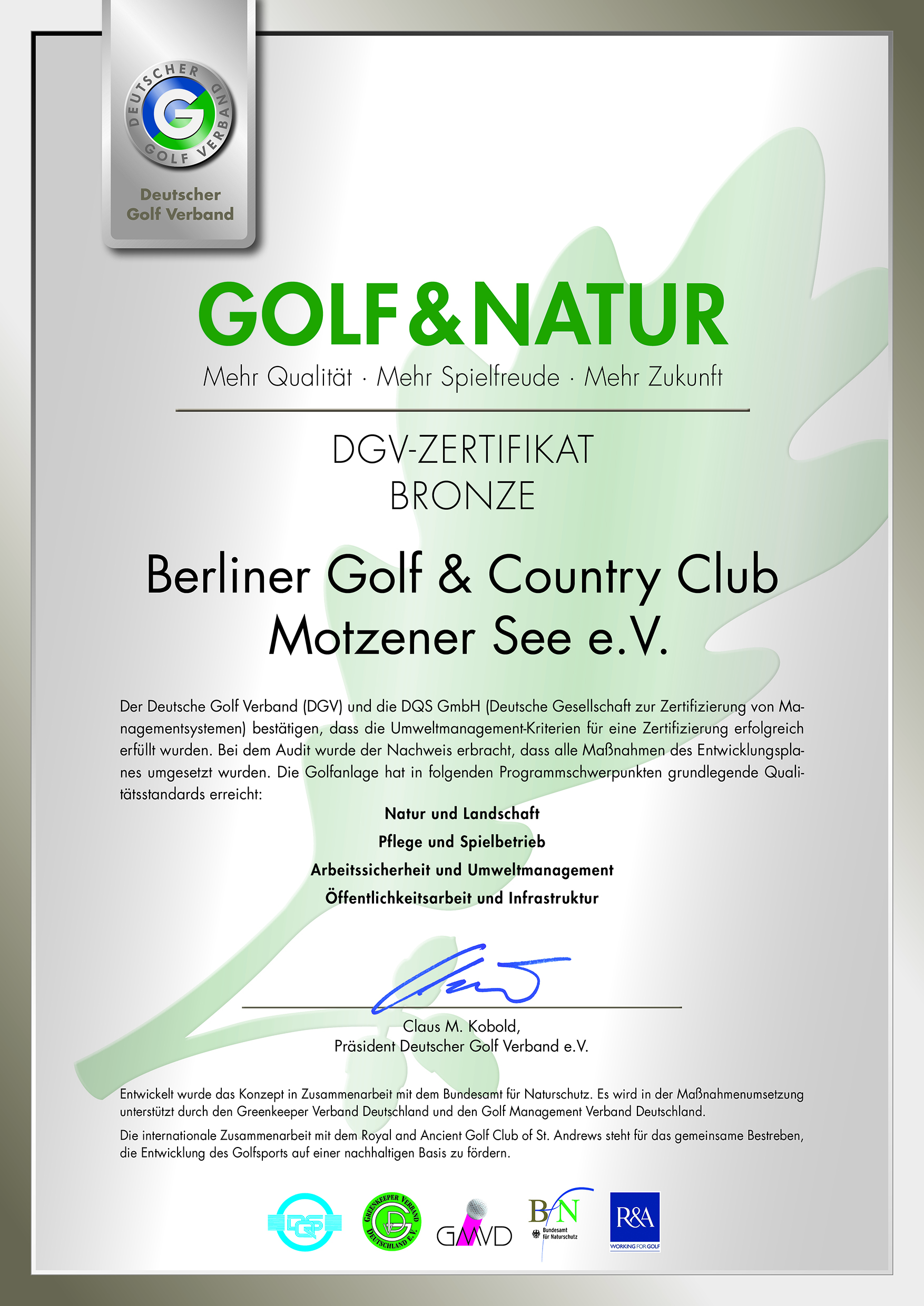 Fein Golf Zertifikat Vorlage Bilder - Entry Level Resume Vorlagen ...